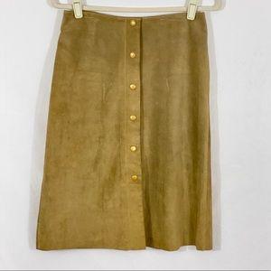 Banana Republic Tan Leather Skirt Size 6